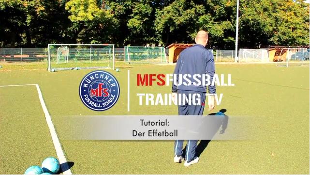 Torschusstechnik Effetball